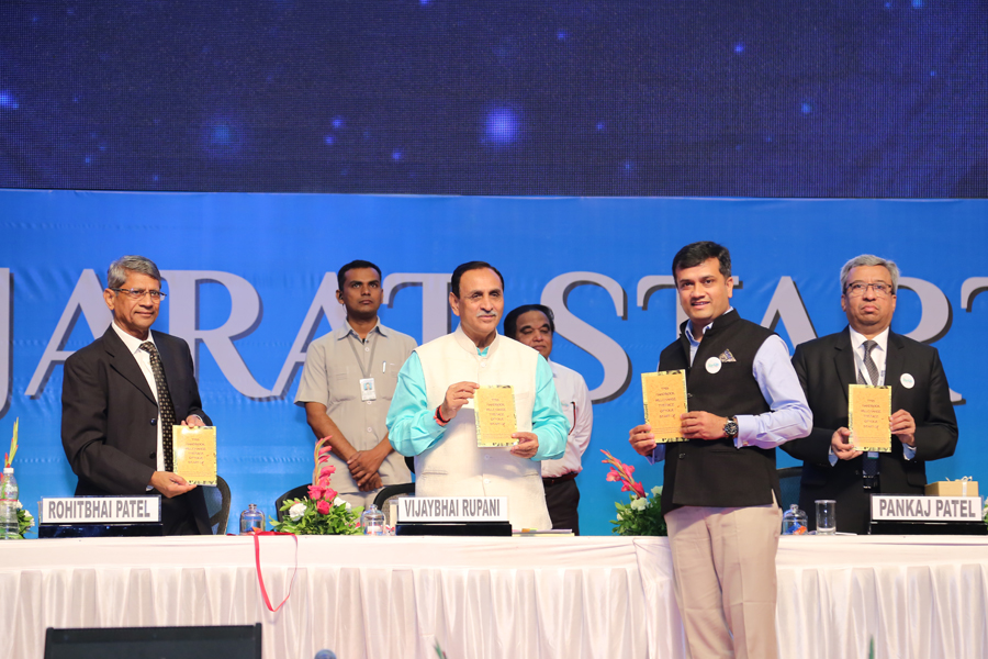"""IPR FOR STARTUPS"" BOOK LAUNCH AT THE HANDS OF  MR. VIJAY RUPANI, HON'BLE CHIEF MINSTER OF GUJARAT"